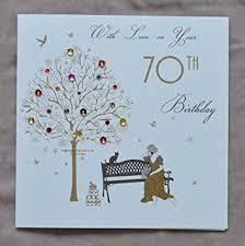 70th Birthday Cards With Love On Your 70th Birthday Handmade Birthday Card Et44