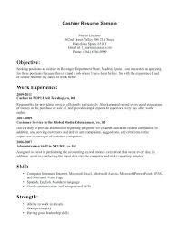 Sample Resume For Csr With No Experience Sample Of Resume For Cashier Cashier Resume Example Sample Resume