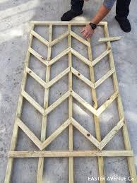 diy chevron lattice trellis tutorial easter plants and gardens