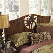Palm Tree Bedroom Furniture by Hospitality Rattan Cancun Palm Indoor Wicker Queen Headboard
