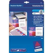 zweckform design pro avery zweckform 6404 visitenkarten set für den pc inkl software
