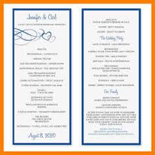 wedding program format 7 free wedding program templates precis format