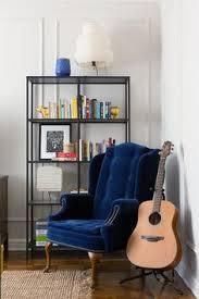 Velvet Wingback Chair Design Ideas This Velvet Reading Chair And Beautiful Bookshelf Great