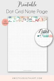 printable planner notes printable note page dot grid us letter printable planner the dot