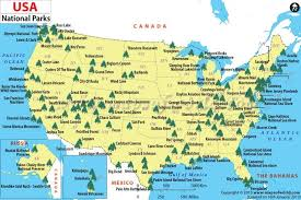 map of us states national parks national parks park national parks usa and cing