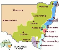 map of new south wales travel new south wales accommodation visitor guide australia
