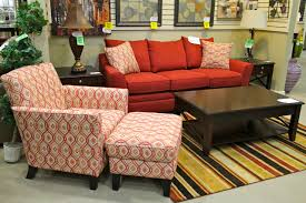 klaussner red sofa and accent chair colleen u0027s classic