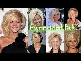 recent tv ads featuring asymmetrical female hairstyles asymmetrical bob haircuts kimberly caldwell american idol