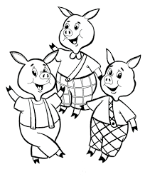magnificent pigs big bad wolf coloring pages houses