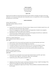 Experienced Rn Resume Sample by Interesting Telemetry Nurse Resume Sample 64 For How To Make A