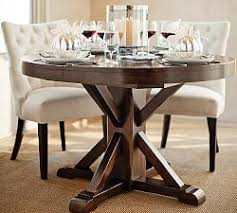 Round Dining Table With Armchairs Oval U0026 Round Dining Tables Pottery Barn
