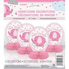 purple elephant baby shower decorations mini honeycomb pink elephant baby shower decorations 4pk