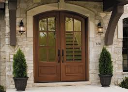 Double Front Entrance Doors by Give Your Home European Elegance With A Rustic Wood Entry Door