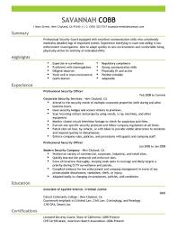 security officer resume best professional security officer resume exle livecareer