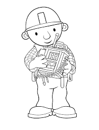 animations 2 coloring pages bob builder