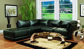 sofa match kayson sectional sofa 5pc black bonded leather match by coaster