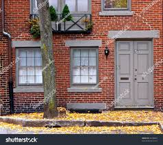 cute little brick home grey door stock photo 20108962 shutterstock