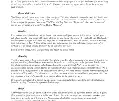 how to write a resume for part time job cover letters letter