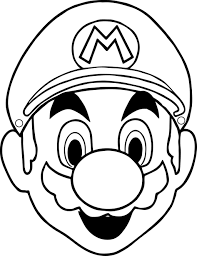 printable luigi coloring pages for kids cool2bkids mario face
