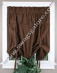 Chocolate Curtains With Valance Anna Tie Up Curtain U2013 Chocolate U2013 United Kitchen Valances