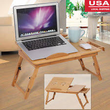 Laptop Desk Bed Folding Portable Laptop Desk Bed Tray Breakfast Table Metal