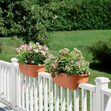 deck railing planter brackets home design ideas