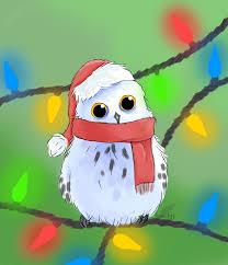 christmas owl by firewolfyy on deviantart
