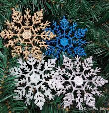 10cm tree snowflakes decorations hanging snowflakes