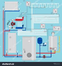 smart energysaving heating system thermostats smart stock vector