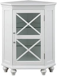 Bathroom Corner Storage Cabinets by Amazon Com Weatherby Bathroom Corner Storage Cabinet White