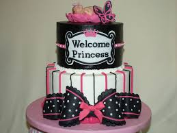 amazing pink black and white baby shower cakes 37 for baby shower