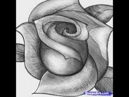 easy way to study 3d pencil drawings of roses youtube