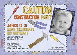 construction builder party invitations decorations art
