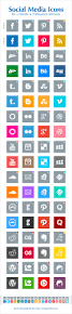 free simple social media icons for corporate u0026 professional websites