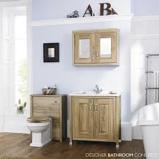 Oak Bathroom Furniture 800mm Natural Walnut Bathroom Mirrored Cabinet Cabinet Lifestyle