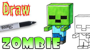 how to draw mincraft zombie coloring pages youtube