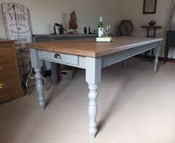 fabulous 8ft rustic reclaimed pine farmhouse kitchen dining table