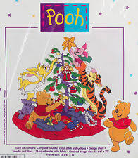 leisure arts 2 winnie the pooh counted cross stitch kits skating