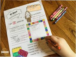 free all about me worksheet lego style
