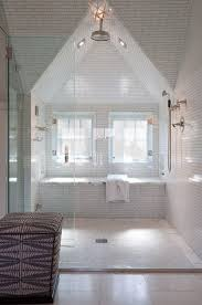 Cozy Attic Bathroom And Shower