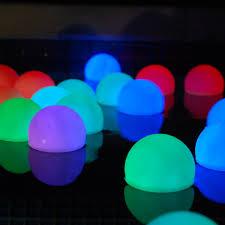 amazon com set of 12 mood light garden deco balls light up orbs