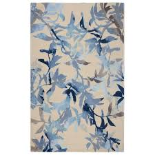 Modern Floral Area Rugs Rugsmith Midnight Garden Blue Modern Floral Area Rug 5 6 X