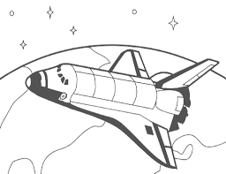 com space ships shuttle orbit coloring page html bebo pandco
