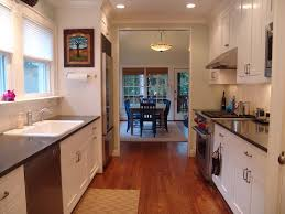 galley kitchen remodel kitchen contemporary with area rug dark