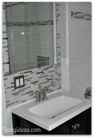nice mosaic tile feature wall bathroom with small home remodel