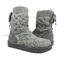womens grey boots size 11 ugg australia womens isla cable knit boot black 1008840 size 11 ebay