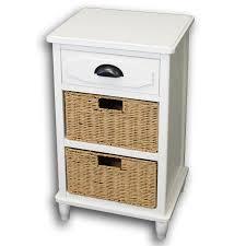 urban designs adriana 3 drawer night stand with wicker baskets