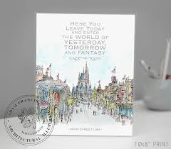 main street usa disney world with quote wall art and gift
