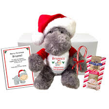 hippopotamus for christmas personalized stuffed hippo gift set