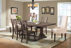 finn 7pc dining set parson chairs